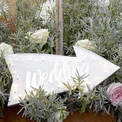Flecha Wedding con luces led