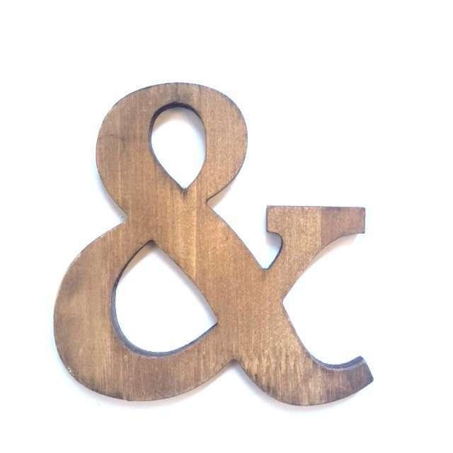 Letra & de madera