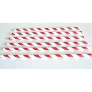 Pajitas-papel-rojas-rayas-blancas