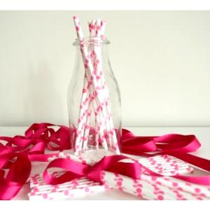 Pajitas-papel-rosa-corazones