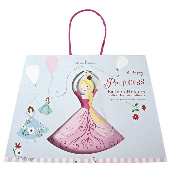 Sujeta globos princesas