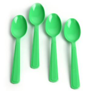cucharas-plastico-verde-kiwi