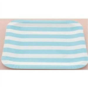 plato-rayas-azules-cuadrado