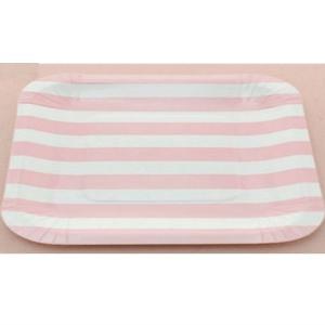 plato-rayas-rosas-cuadrado