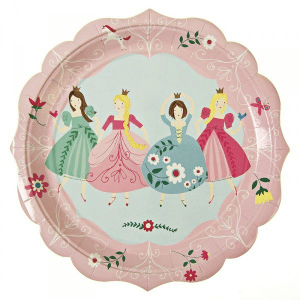 Platos princesa rosas