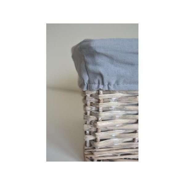 cesta mimbre forro gris