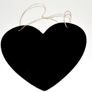 Pizarra colgante corazon grande