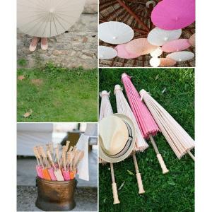 Parasol de bambu y papel