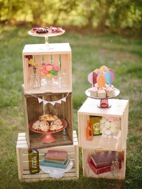 Cajas de madera sweet dream moment for Mesa con cajas de fruta