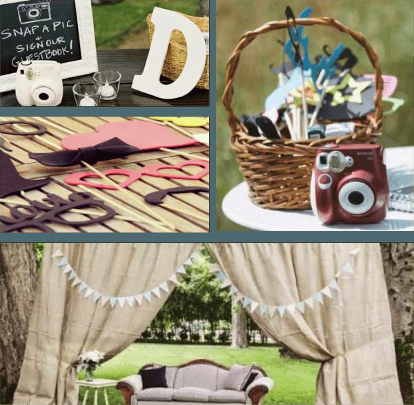 ideas para decorar el photocall de una boda