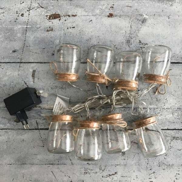 Guirnalda de Tarros de cristal
