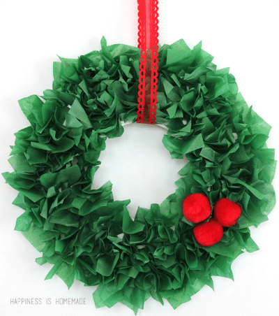 Navidad con pompones de papel