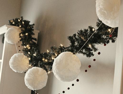 Navidad con pompones de papel sweet dream moment - Decoracion navidad papel ...