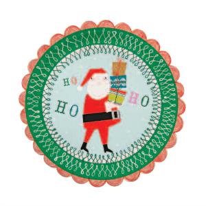 Platos navidad Papa Noel