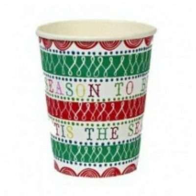 vasos navidad papel