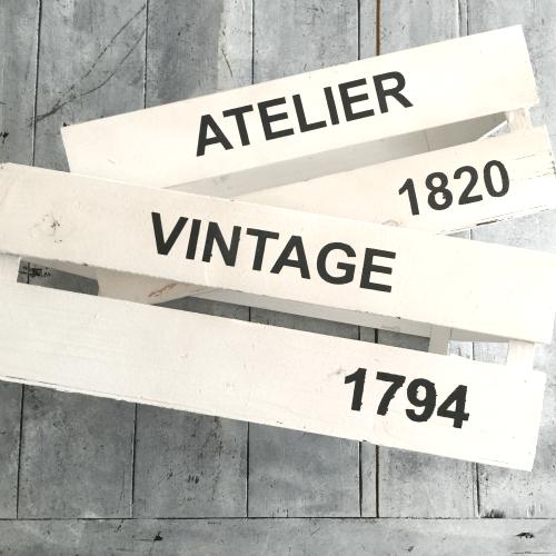 cajas madera vintage atelier