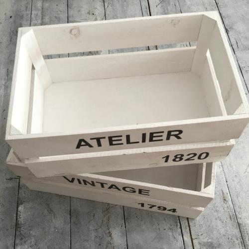 Caja Madera Vintage Atelier