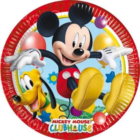 platos papel mickey