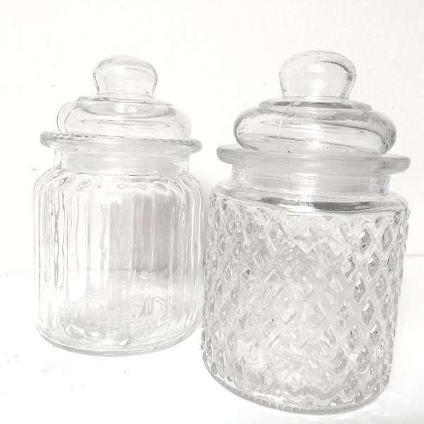 Tarros de cristal estilo vintage