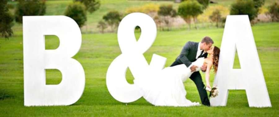 letras a medida porexpan para bodas