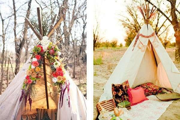 Quiero un teepee en mi boda