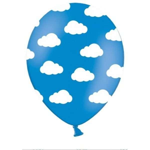 Globos azules con nubes