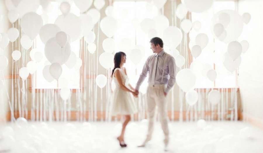 decoracion de boda con globos