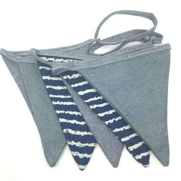 Banderines tela Azul y Marinero