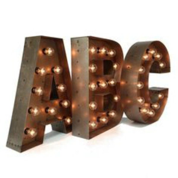 Letras Metal con luz led