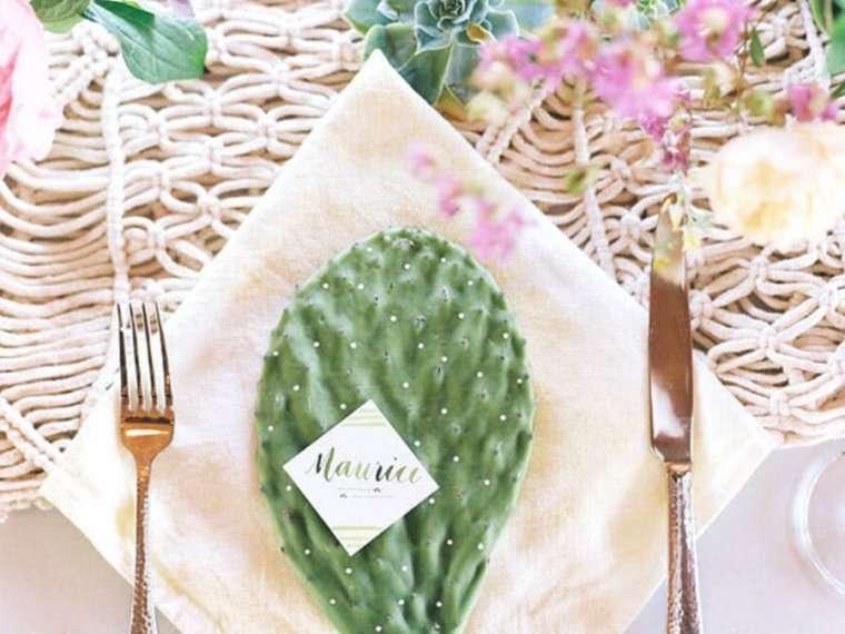 Las mejores ideas para una boda entre cactus