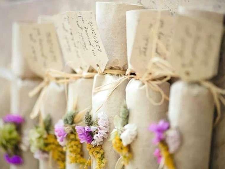 5 ideas para presentar los detalles de tu boda