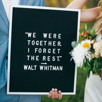 Letter board para boda. la llamada