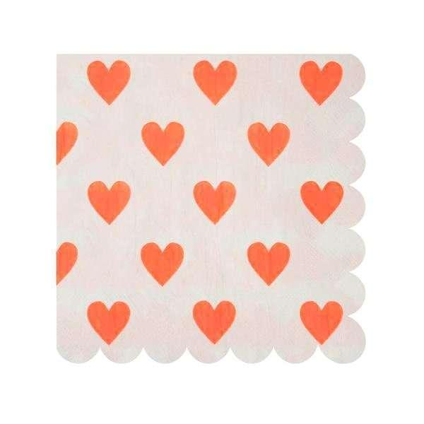 servilletas corazones