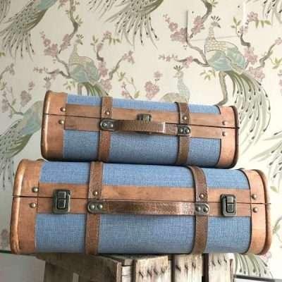 Maletas Vintage Azul Claro