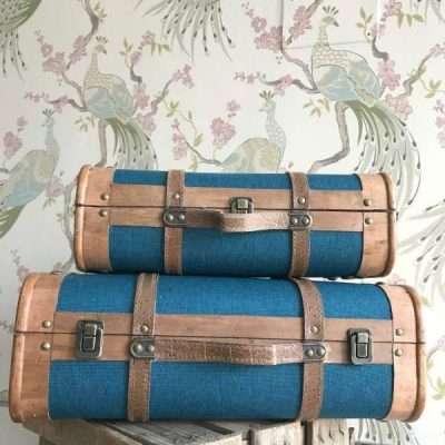 Maletas Vintage Azul Marino