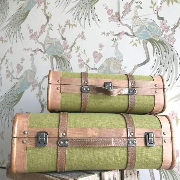 Maletas Vintage Verde