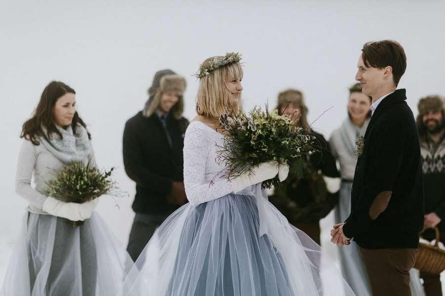Una boda de ensueño en la nieve