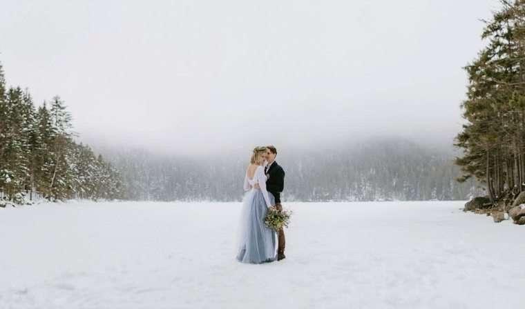 boda en la nieve. regalos de navidad