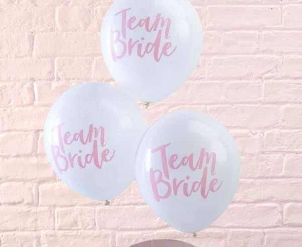 Globos Team Bride. Productos perfectos para despedida de soltera. Ideas con gusto para despedidas de soltera