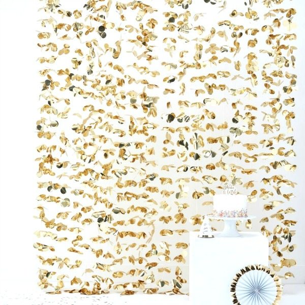 Cortina dorada photocall
