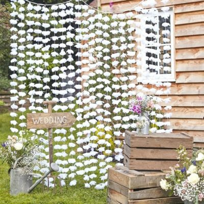 Cortina flores photocall