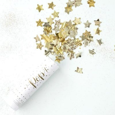 Mini Cañon confeti estrellas