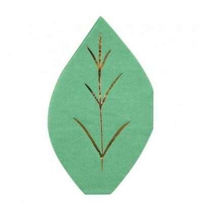 Servilletas hoja verde