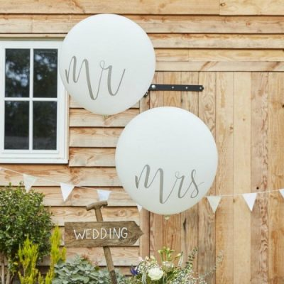 Globos Gigantes Mr & Mrs