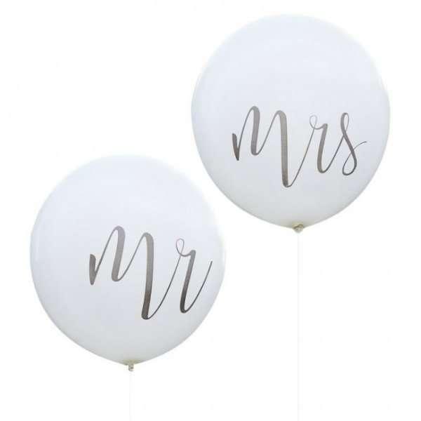 Mr y Mrs. Globos Boda. Bombonas de helio