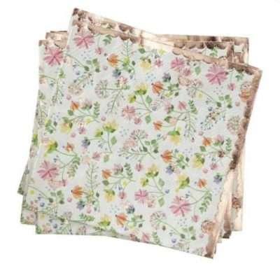 servilletas de flores