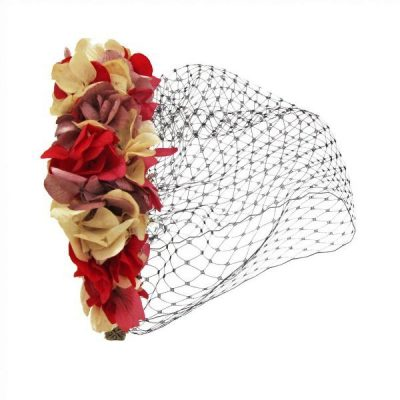 Diadema Velo rosa y rojo - Sweet Dream Moment
