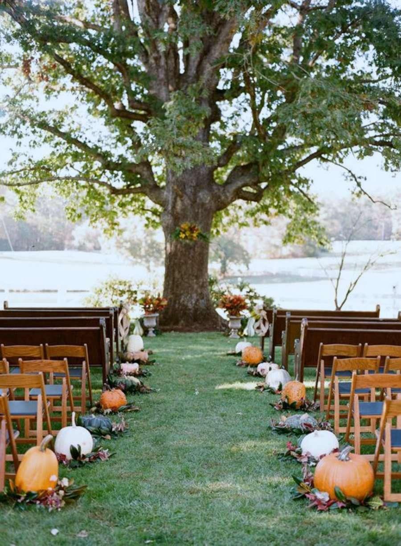 boda entre calabazas