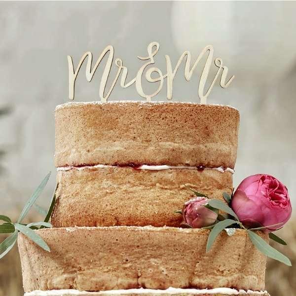 Mr & Mr cake topper