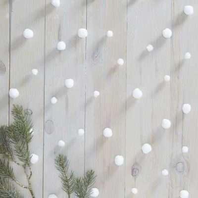 cortina bolas nieve photocall